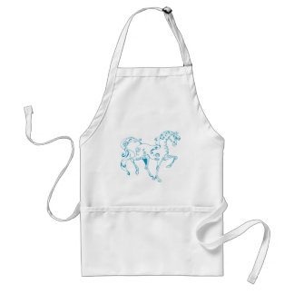 Teal Line Equine Aprons