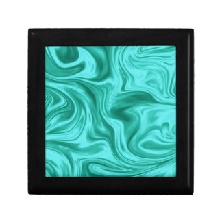 Teal Liquid Marble Silk Gift Box