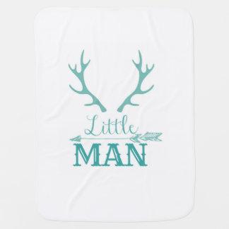 Teal Little Man Blanket Buggy Blanket