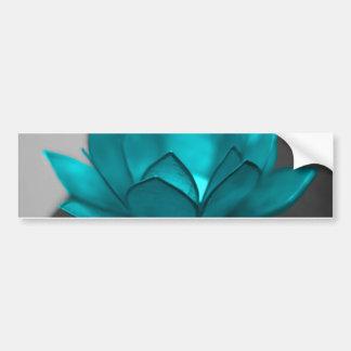 Teal Lotus Bumper Stickers