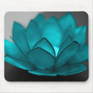 Teal Lotus Mouse Mat