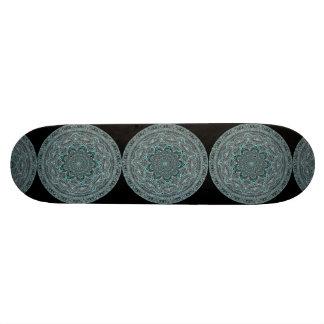 Teal Mandala Skate Decks