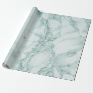 Teal Marble Texture Look Wrapping Paper