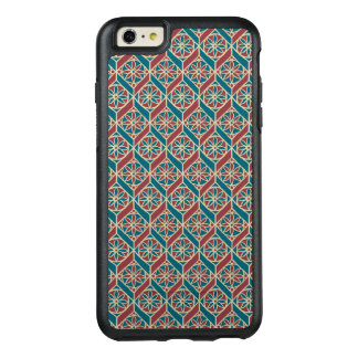Teal, Maroon, Beige Ethnic Floral Pattern OtterBox iPhone 6/6s Plus Case