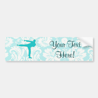 Teal Martial Arts Bumper Sticker