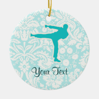Teal Martial Arts Christmas Ornament