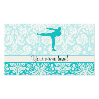 Teal Martial Arts Pack Of Standard Business Cards