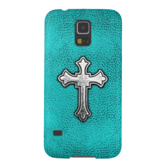 Teal Metal Cross Case For Galaxy S5