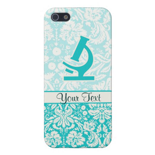 Teal Microscope; Cute Case For iPhone 5