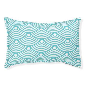 Teal Modern Wave Pet Bed