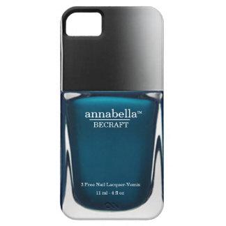 Teal Monogram Nail Polish Bottle iPhone Case