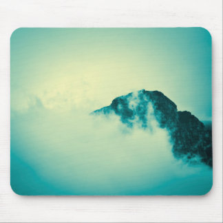 Teal mountain mouse pad