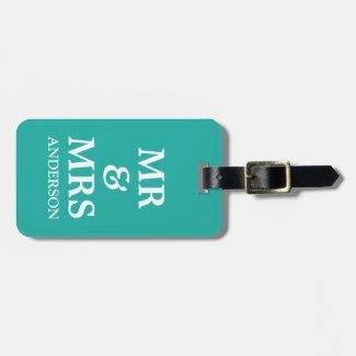 Mr & Mrs Wedding Luggage Tag