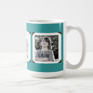 Teal Multi-Photo Gift Mug for Mum or Dad