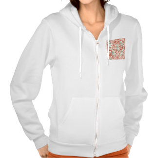 Teal Music Groovy Design Hooded Sweatshirts