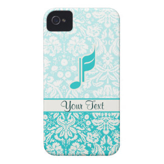 Teal Music Note iPhone 4 Cases