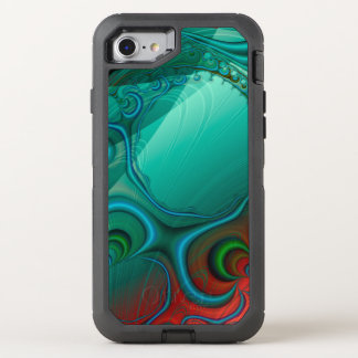 Teal Musings Fractal OtterBox Defender iPhone 8/7 Case