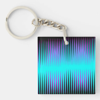Teal-n-Pink Frequency Acrylic Keychain
