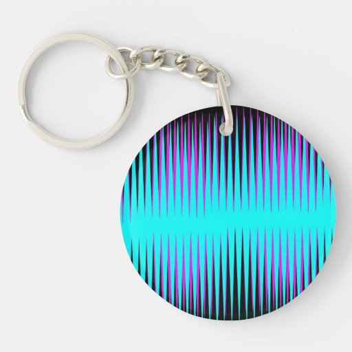 Teal-n-Pink Frequency Acrylic Key Chains
