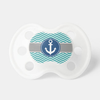 Teal Nautical Anchor Chevron Dummy