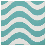 Teal Nautical Wave Pattern Fabric