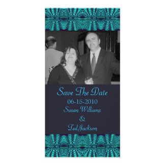 Teal Navy Abstract Photo Cards