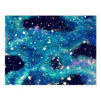Teal Nebula and Stars Postcard