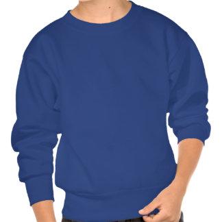Teal Nebula and Stars Pullover Sweatshirts