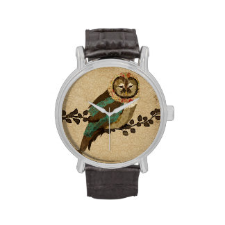 Teal Night Owl Watch