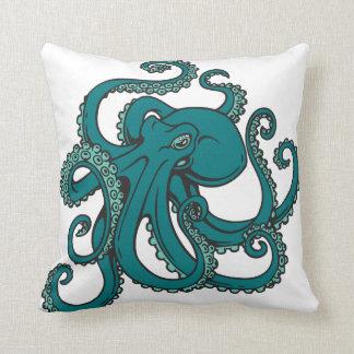 Teal Octopus Cushion