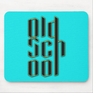 Teal Old School Design Mouse Pads