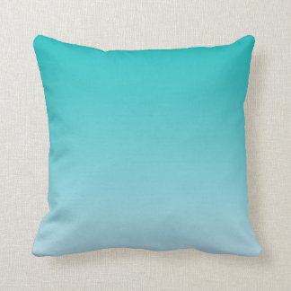 """Teal Ombre"" Cushion"