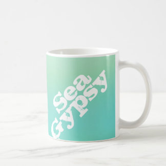Teal Ombre Fade Sea Gypsy Mermaid Coffee Mug