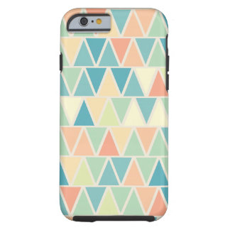 Teal Orange Triangle Pattern Tough iPhone 6 Case