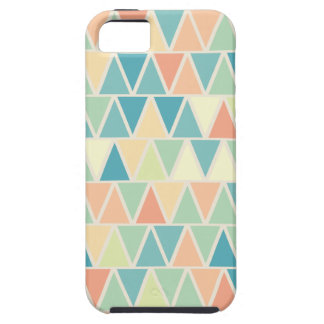 Teal Orange Triangle Pattern Tough iPhone 5 Case
