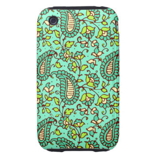 Teal Paisley iPhone 3G/3GS Case Mate Tough