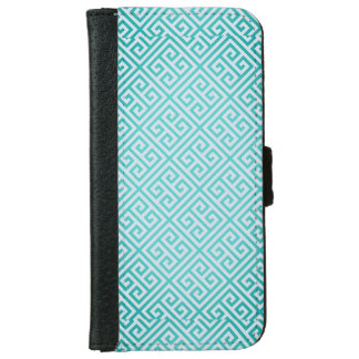 Teal Pattern Iphone 6/6s Wallet Case