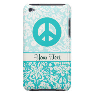 Teal Peace Sign Barely There iPod Cover