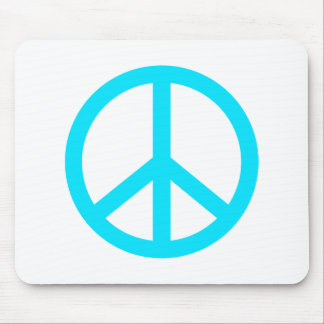 Teal peace sign mouse pad