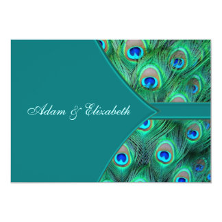 Teal Peacock Elegant Peacock Wedding Invitation