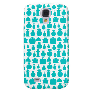 Teal Perfume Bottles Pern. Galaxy S4 Case