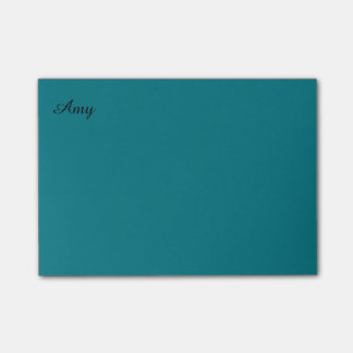 Teal Personalized Postit Notes