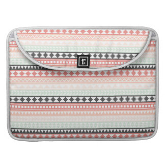 Teal, Pink and Gray Tribal Aztec Pattern Sleeve For MacBooks