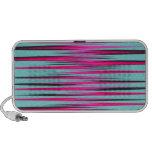 Teal, PInk, & Black Stripes Laptop Speaker