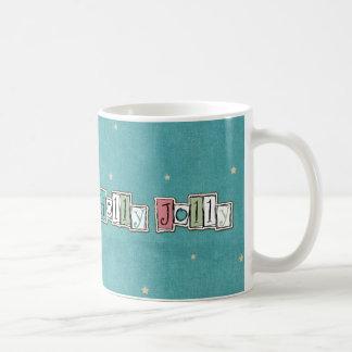 Teal Pink Holly jolly Christmas Chic Mug