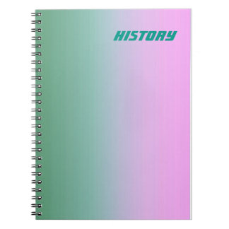 Teal Pink Subject/Name Notebook