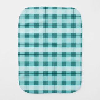 Teal Plaid 2.0 Burp Cloth