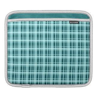Teal Plaid iPad Sleeve