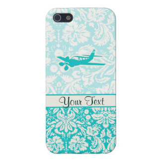 Teal Plane iPhone 5 Cases