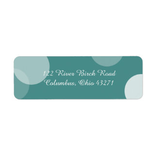 Teal Polka Dot Confetti Address Label